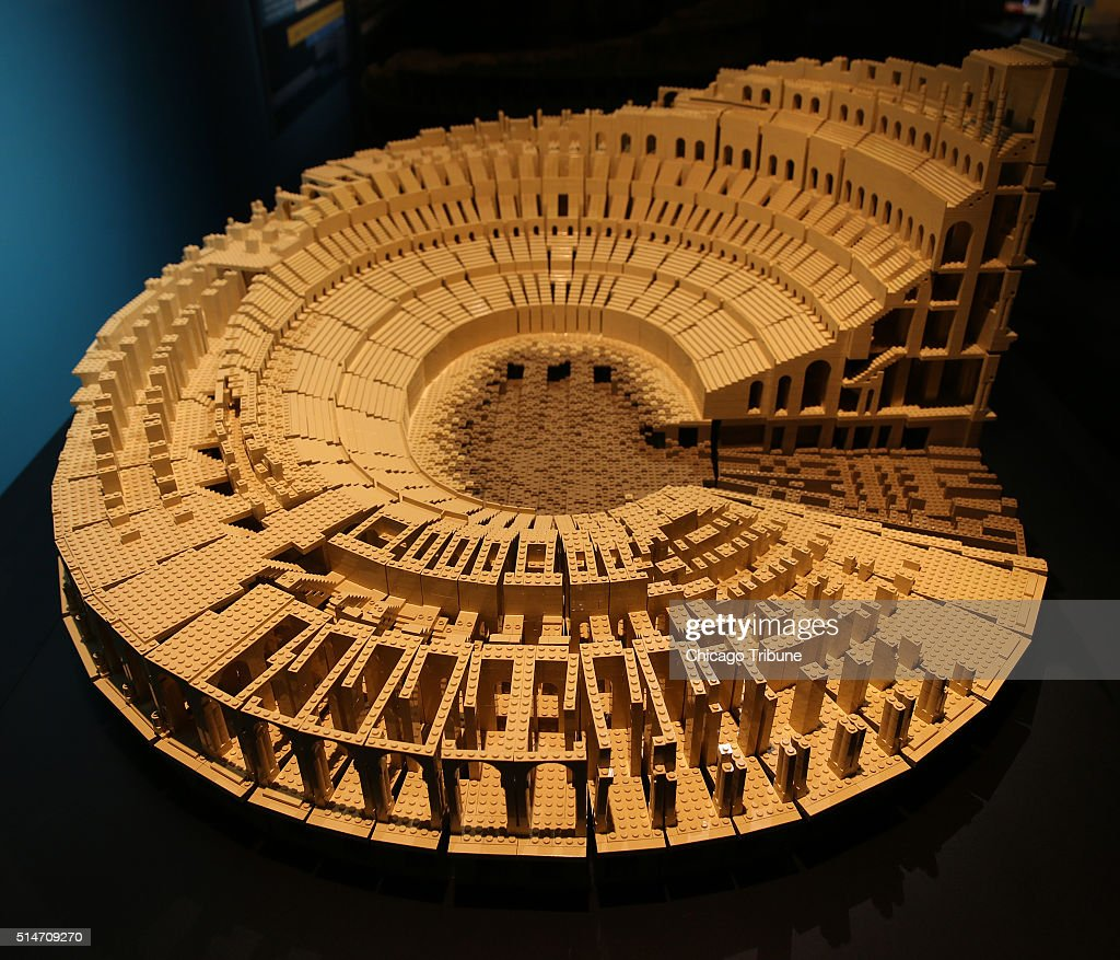 Fantastic in plastic: Lego artist reimagines worldly wonders for Chicago museum : News Photo