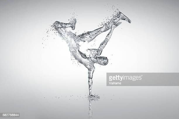 CGI rendering of fluid breakdancer