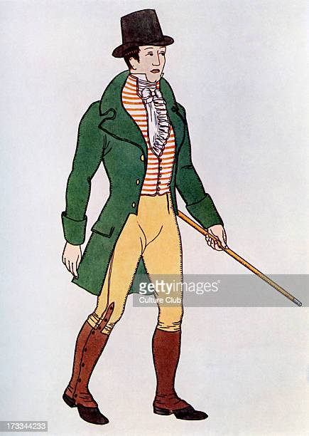 Rendering of the high collared waistcoats popular in London c1810 Mr Weston's of Old Bond Street was the first to produce this style the most popular...