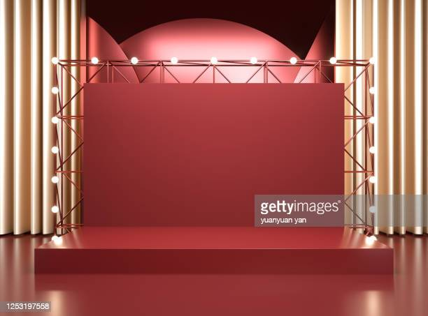 3d rendering performance stage background - stage performance space stock pictures, royalty-free photos & images