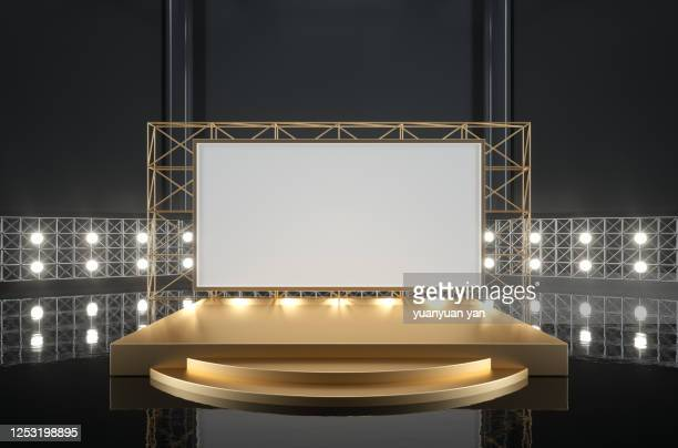 3d rendering performance stage background - palcoscenico foto e immagini stock