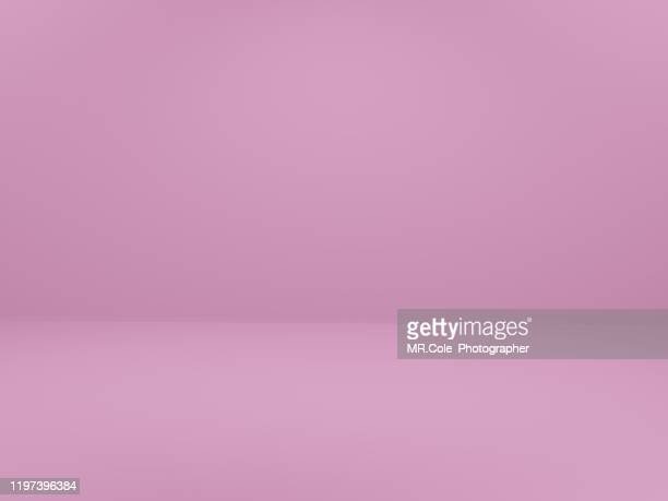 3d rendering pink empty room  for advertisement,blue backgrounds with copy space - leer stock-fotos und bilder
