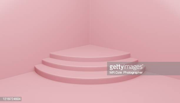 3d rendering pink stage or podium for advertisement,pink backgrounds with copy space - awards ceremony stock pictures, royalty-free photos & images
