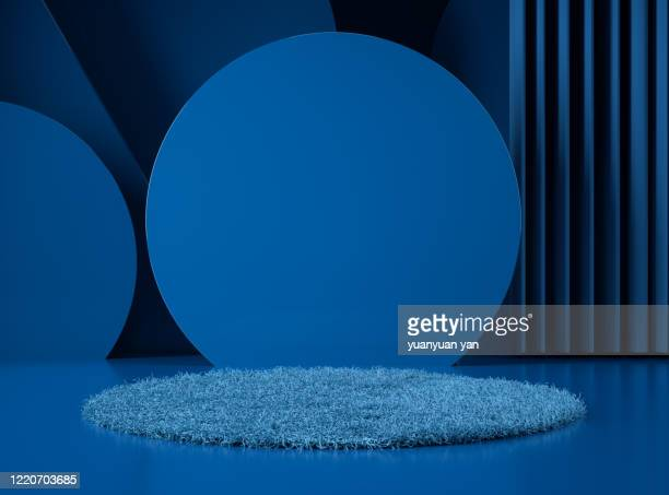 3d rendering product background - carpet decor stock pictures, royalty-free photos & images