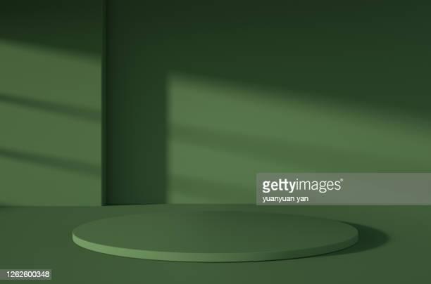 3d rendering product background - grün stock-fotos und bilder