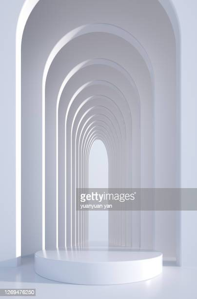 3d rendering product background - 建築上の特徴 アーチ ストックフォトと画像