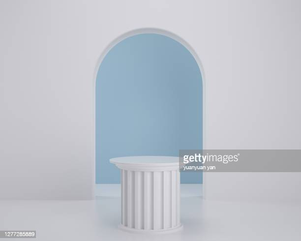 3d rendering product background - arch stock pictures, royalty-free photos & images