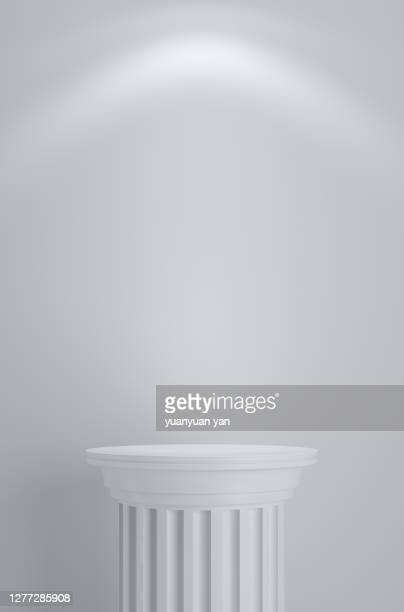 3d rendering product background - pedestal stock pictures, royalty-free photos & images