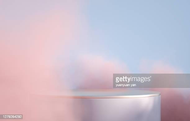 3d rendering product background - pedestal - fotografias e filmes do acervo