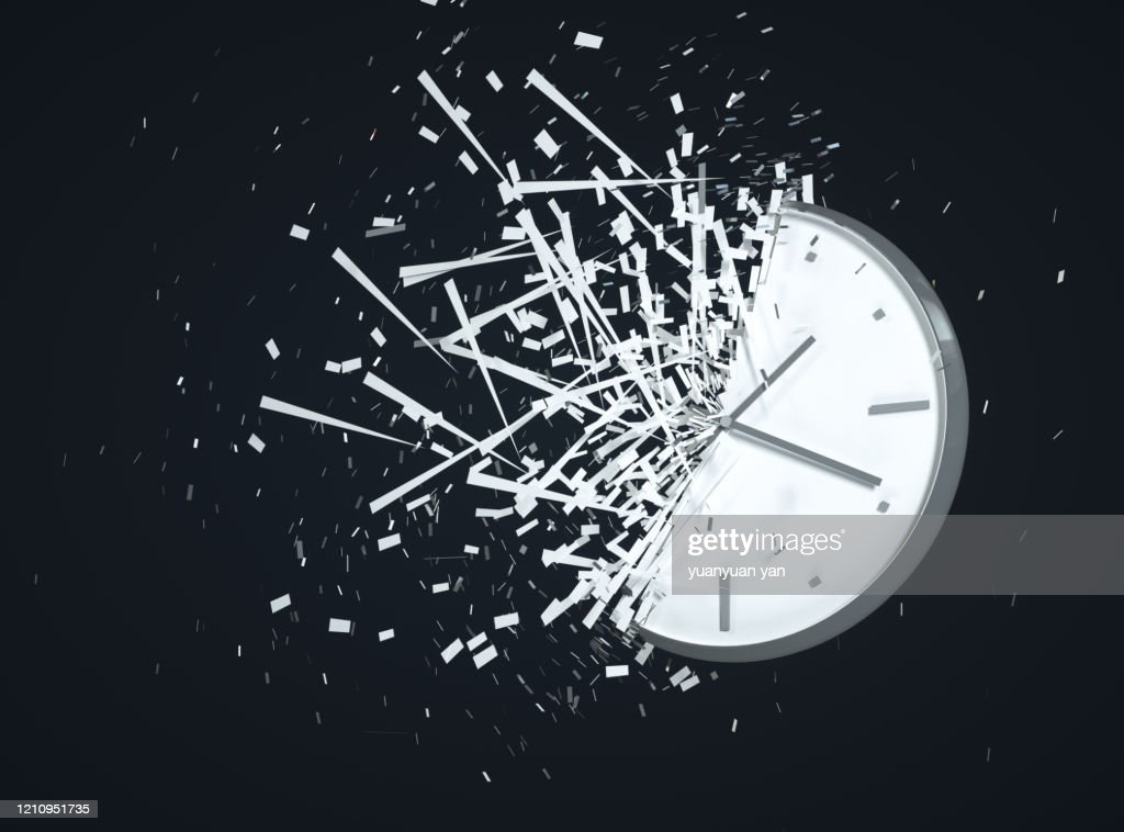 3D rendering time concept background : Stock-Foto