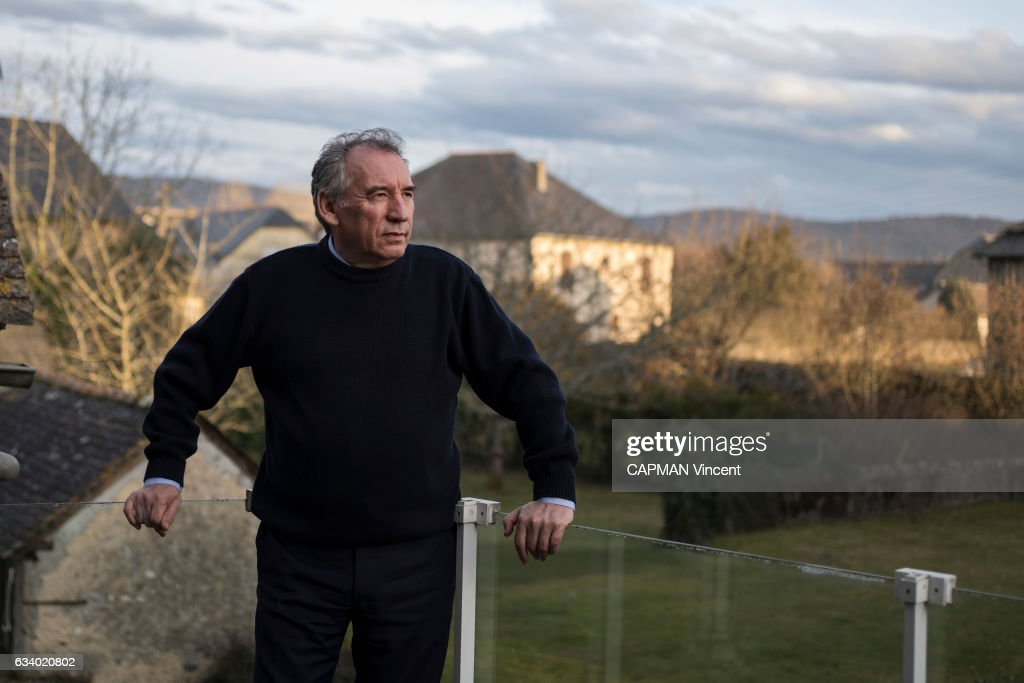Francois Bayrou Portrait Session : News Photo