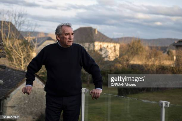 Rendez vous with the politician Francois Bayrou leader of the MoDem party at his home in Borderes near Paul on January 27 2017