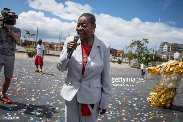 ESPAGNE TRINIDAD AND TOBAGO FEBRUARY 28 Rendez vous with the singer Calypso Rose in Tobago during the carnival at the Socadrome in PortDEspagne on...