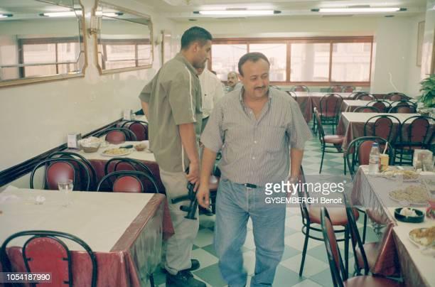 Rendezvous avec Marwan BARGHOUTI secrétaire général du Fatah en Cisjordanie et chef du Tanzim l'organisation armée des militants palestiniens en...
