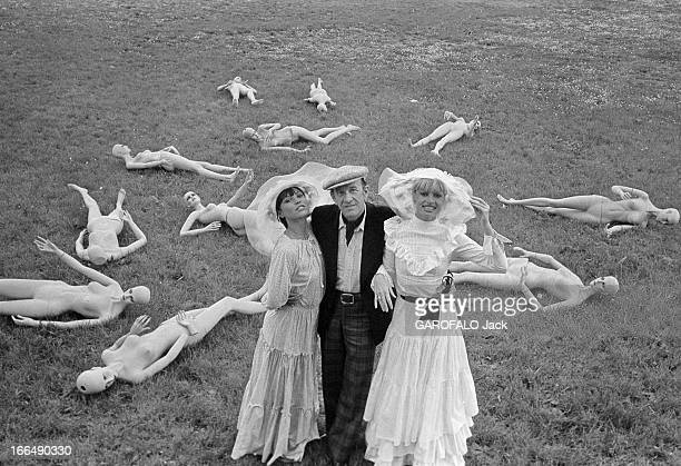 Rendezvous With Alain Bernardin And Girls Of 'Crazy Horse' In Cannes. France, Cannes, 12 mai 1977, Alain BERNARDIN a fondé le cabaret 'Crazy Horse...