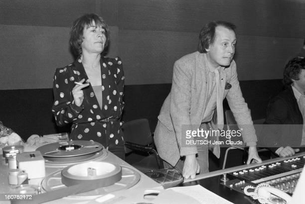 Rendezvous With Annie Girardot Mars 1979 Annie GIRARDOT et Frédéric BOTTON auteurcompositeur lors de l'enregistrement de son disque