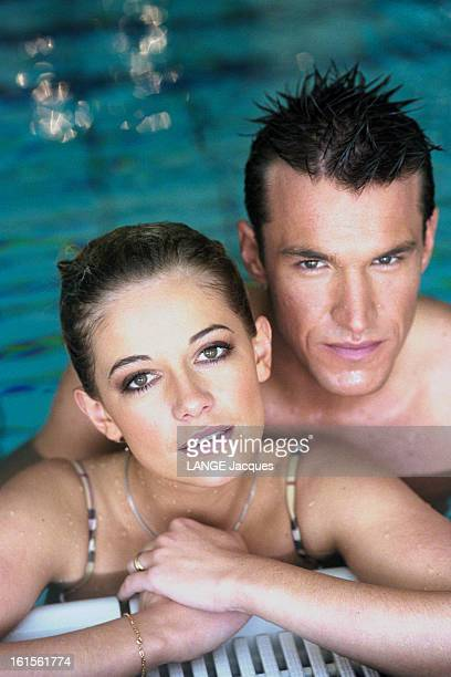 Rendezvous With Benjamin Castaldi With His Companion Flavie Flament In Normandy. Rendez-vous avec Benjamin CASTALDI avec sa compagne Flavie FLAMENT...