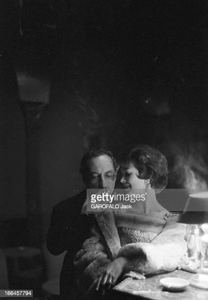 Rendezvous With Dawn Addams Italie Rome 21 novembre 1957 l'actrice anglais Dawn ADDAMS a épousé le prince Vittorio MASSIMO Dans leur propriété ils...