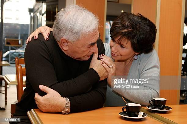 Rendezvous With Dominique StraussKahn In Sarcelles Attitude de troisquarts de Dominique STRAUSSKAHN et son épouse Anne SINCLAIR se regardant en se...