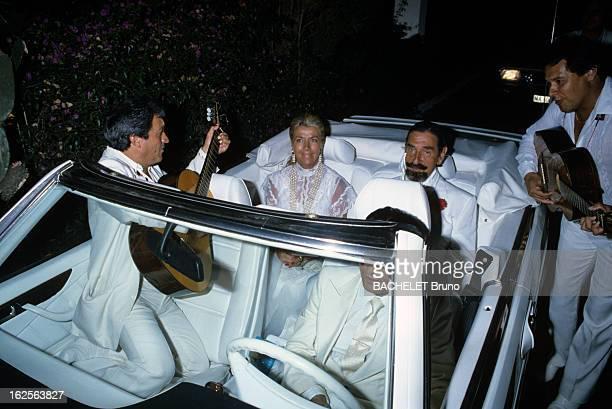 Rendezvous With Don Jaime Mora Y Aragon Marbella Août 1985 Don Jaime MORA Y ARAGON aristocrate et acteur espagnol et son épouse Margrit OHLSON...