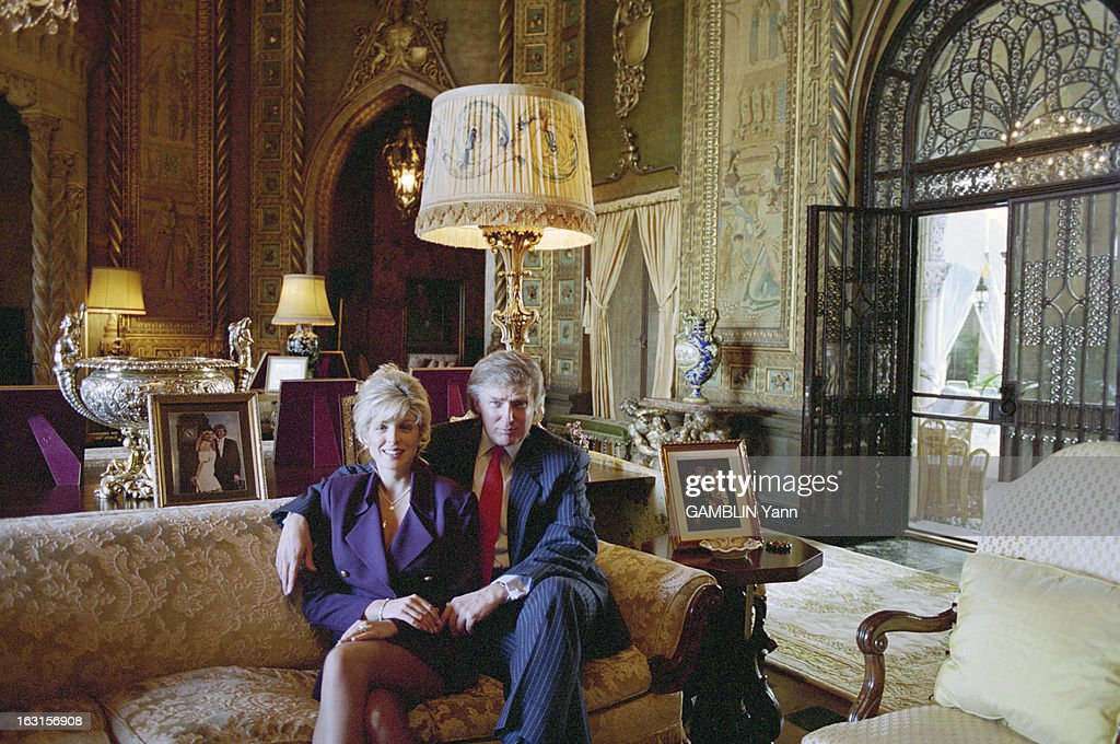 Rendezvous With Donald Trump And Her Companion Marla Maples In The Luxurious Residence Of Mar