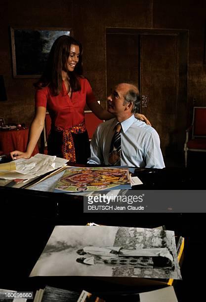 Rendezvous With Eddie Barclay And His 4th Wife Beatrice France 1970 A l'occasion de son quatrième mariage avec Béatrice Béatrice vêtue d'un chemisier...