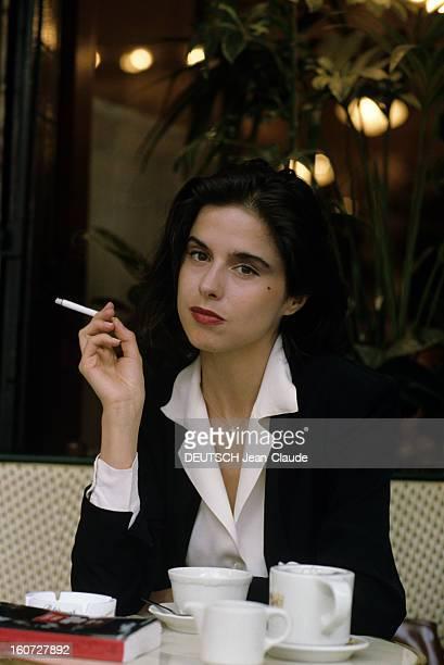 Rendezvous With Elisabeth Barille Writer Paris Juin 1991 Portrait d' Elisabeth BARILLE écrivain auteur du livre 'ANAIS NIN MASQUEE SI NUE' une...