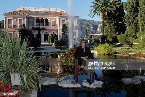 Rendezvous With Emmanuelphilibert Prince Of Venice And Piedmont Côte d'Azur Cap Ferrat 7 Octobre 1990 A la villa EPHRUSSI DE ROTHSCHILD propriéte de...
