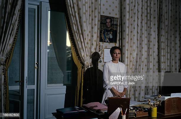 Rendezvous With Empress Farah Diba In Tehran En Iran à Téhéran en septembre 1978 l'impératrice Farah DIBA épouse du Shah d'Iran Reza Pahlavi dans son...