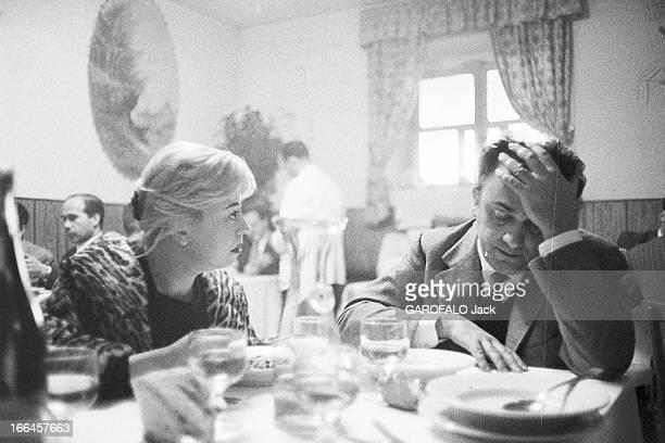 Rendezvous With Federico Fellini And Gulietta Masina Italie 5 décembre 1957 l'actrice italienne Giulietta MASINA et le réalisateur de cinéma et...
