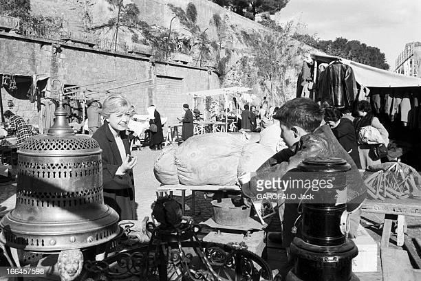 Rendezvous With Federico Fellini And Gulietta Masina. Italie, Rome, 5 décembre 1957, l'actrice italienne Giulietta MASINA et le réalisateur de cinéma...