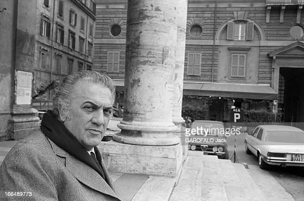 Rendezvous With Federico Fellini In The Streets Of Rome In 1977 Italie 28 et 25 Février 1977 interview de Federico FELLINI dans les rues de Rome et...