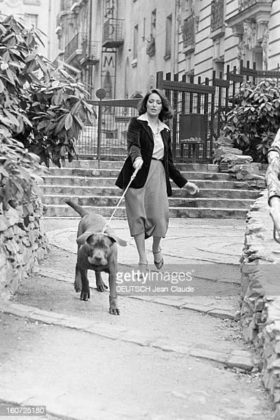 Rendezvous With Francoise Fabian A Paris à l'occasion du tournage du film 'Madame Claude' de Just JAEKIN où elle incarne le personnage de Madame...