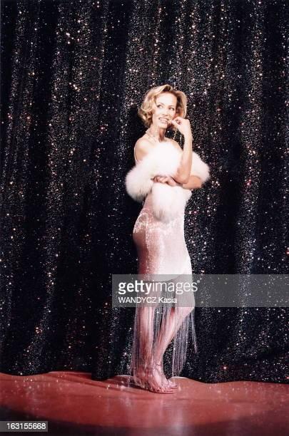 Rendezvous With Gabrielle Lazure At Michel Theater Where She Plays In 'Copier/Coller' Gabrielle LAZURE au théâtre Michel à PARIS plan de face posant...