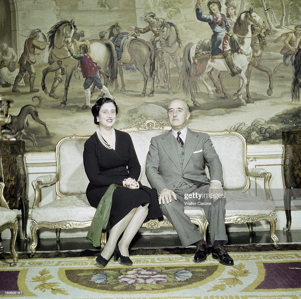 Rendezvous With General Franco And His Wife, Dona Carmen : Fotografía de noticias