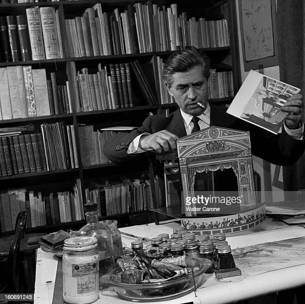 Rendezvous With Georges Wakhevitch Portrait de Georges WAKHEVITCH créateur de décors Construisant un théâtre miniature en contreplaqué