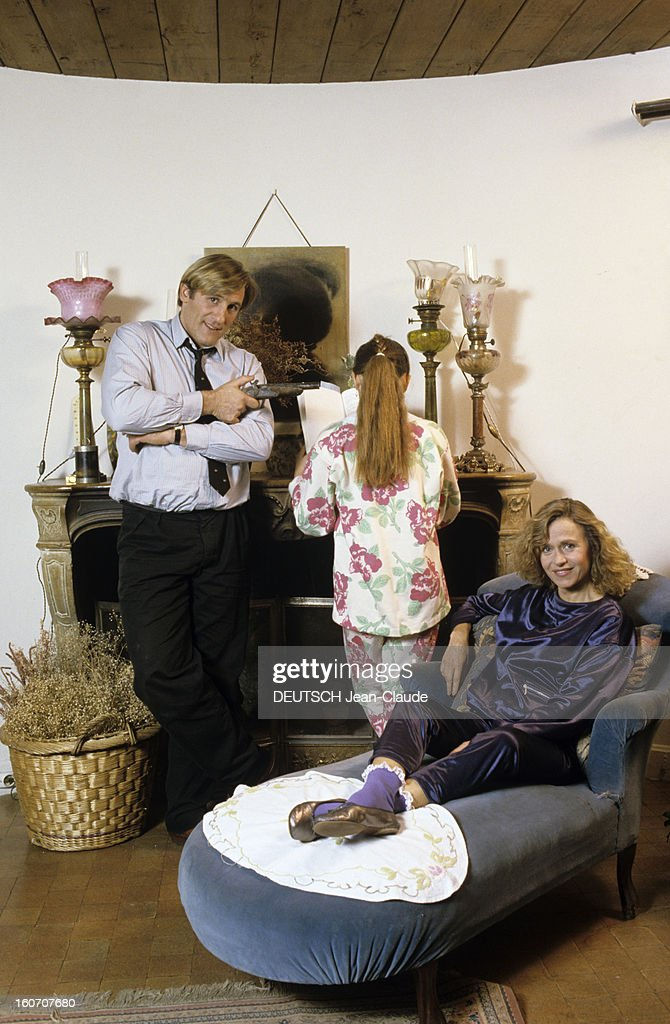 Rendezvous With Gerard Depardieu And His Wife Elisabeth At Home In Bougival : News Photo