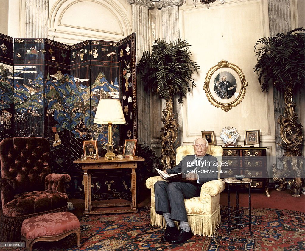 Rendezvous With Guy De Rothschild At Home. Guy De Rothschild In His  Mansion, The