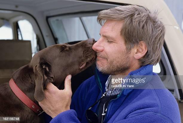 Rendezvous With Harrison Ford At Home Aux Etats Unis le 03 fevrier 1989 l'acteur Harrison FORD vient de tourner dans le film 'Working Girls' du...