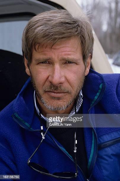 Rendezvous With Harrison Ford At Home Aux Etats Unis le 03 fevrier 1989 portrait de face avec une barbe de l'acteur Harrison FORD qui vient de...