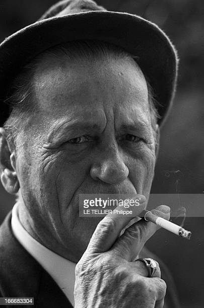 Rendezvous With Henri Charriere Known As Papillon Le 14 mai 1969 portrait avec un chapeau un fume cigarette et un chevaliere à l'annulaire de...
