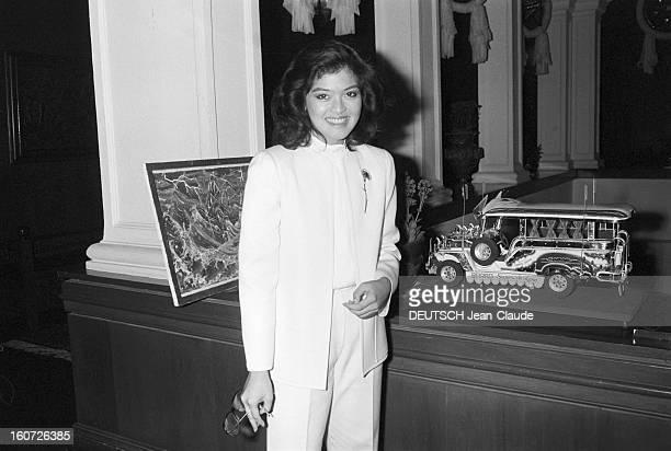 Rendezvous With Imee Marcos Daughter Of Ferdinand Marcos Philippines 24 janvier 1982 Imée MARCOS fille aînée du Président Ferdinand Marcos dans son...