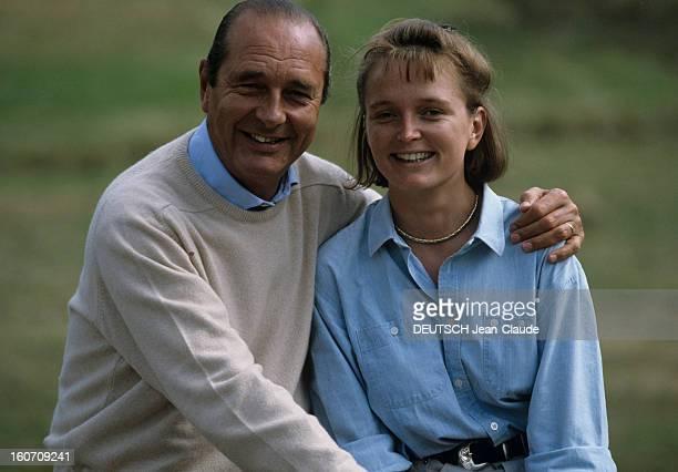 Rendezvous With Jacques Chirac At Home In Correze. Corrèze, Sarran, Château de Bity- Septembre 1999- Reportage sur Jacques CHIRAC et sa famille: plan...