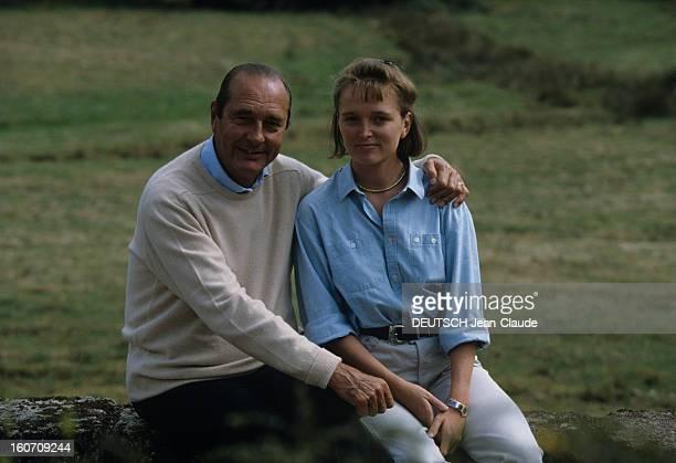 Rendezvous With Jacques Chirac At Home In Correze Corrèze Sarran Château de Bity Septembre 1999 Reportage sur Jacques CHIRAC et sa famille plan moyen...