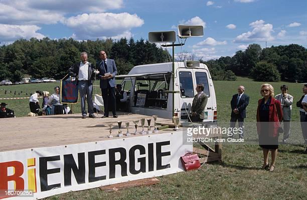 Rendezvous With Jacques Chirac At Home In Correze. Corrèze, Sarran, Château de Bity- Septembre 1999- Reportage sur Jacques CHIRAC et sa famille :...