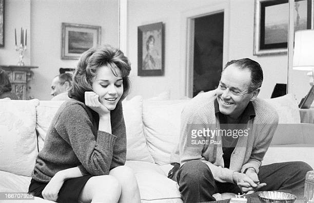 Rendezvous With Jane Fonda And Her Father Henry In New York Jane FONDA 22 ans fille de l'acteur Henry FONDA rend visite à son père à NEW YORK Tous...