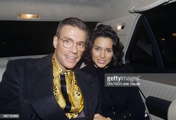 Rendezvous With Jean Claude Van Damme A Bruxelles à l'arrière d'une voiture JeanClaude VAN DAMME avec des lunettes en compagnie de son exépouse Gladys