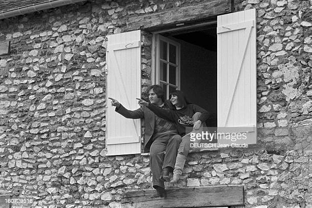 Rendezvous With Jeanjacques Debout And Chantal Goya IledeFrance 16 janvier 1978 JeanJacques DEBOUT compositeur et interprète français et son épouse...