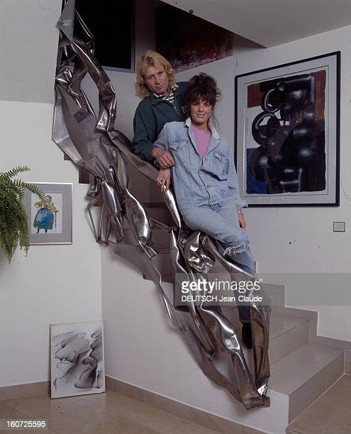 Rendezvous With Jeanpierre Rives And Jennifer In Their Loft Near Bastille Parisnovembre 1987 Portrait de JeanPierre RIVES et Jennifer dans leur loft...