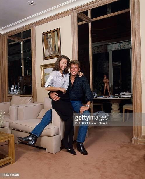 Rendezvous With Johnny Hallyday Décembre 1987 Rendezvous avec Johnny HALLYDAY et sa fiancée Gisèle GALANTE dans le nouvel hôtel particulier que le...